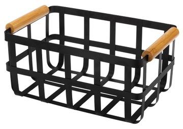 Корзина-органайзер металлический контейнер 28X17см черный