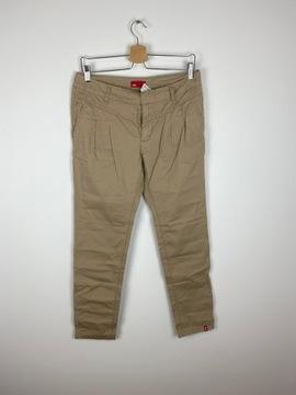 Beżowe spodnie materiałowe edc S/36