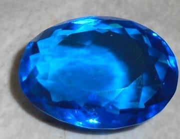 duży topaz london blue laboratoryjny 80.50ct