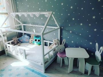 Детская кроватка скандинавский дом 180х90 + бесплатно