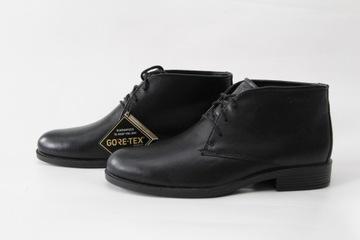ECCO - gore-tex skórzane buty sztyblety NOWE 41