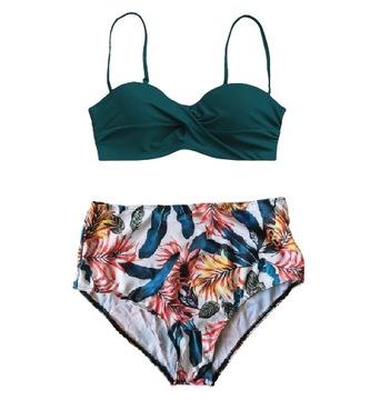 DWUCZĘŚCIOWY strój kąpielowy wysoki stan XL (S112)