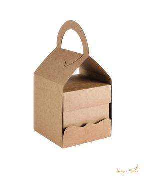 Взрывающаяся коробка мешок 10х10х10 см- Крафт