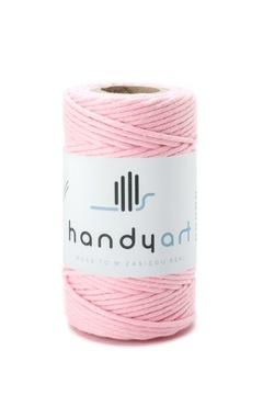 Шнур хлопковый макраме бэби-розовый 2мм 60м