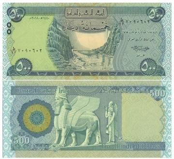 ИРАК 500 динаров 2018 P98A UNC