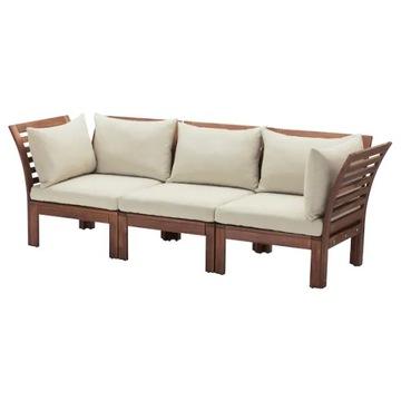 ИКЕА АПЛАРО 3-х местный модульный диван коричневая морилка