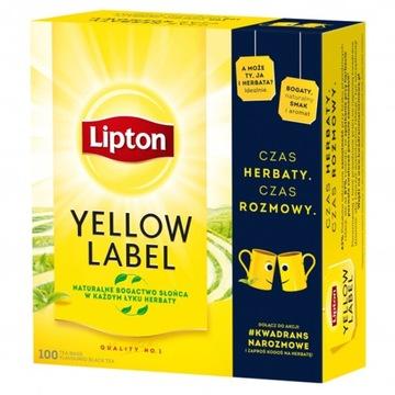 Lipton Yellow Label Черный чай 100 пакетиков