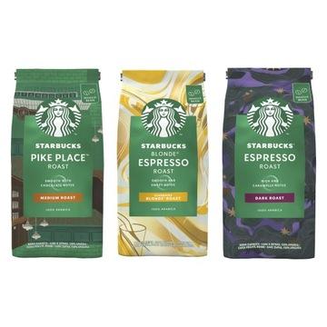 Набор кофейных зерен Starbucks Mix 3x200г