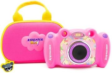 Kiddypix Różowy Aparat Cyfrowy Dla Dzieci Gry Etui