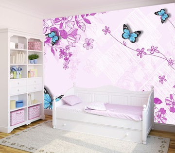 Фотообои для детей - бабочки, бабочки