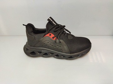 Męskie buty robocze ochronne BHP czarne 46