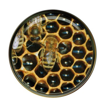 Крышки для банок, мед (50 шт.) - дизайн НД18
