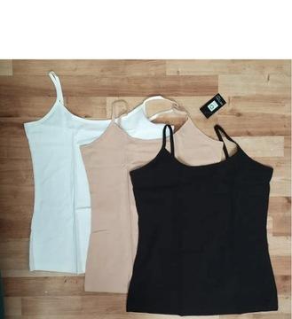3 x nowy top bawełny organicznej L bluzka