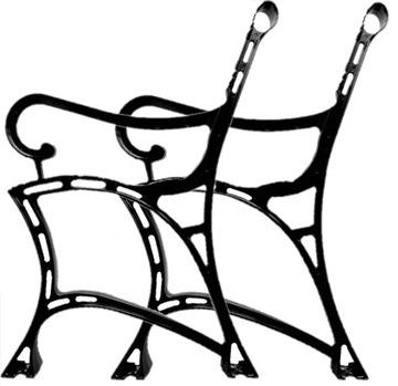 Алюминиевая ножка для скамейки на террасе в саду