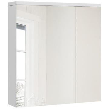 Белая тумба для ванной с зеркал, 60 см