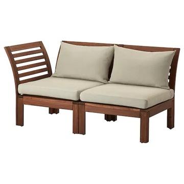 ИКЕА АПЛАРО 2-х местный диван коричневый / бежевый 143x80x7
