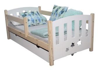 АНИЯ детская кровать белая 80х160 каркас, с перилами