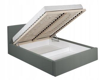 ЭММА кровать серый каркас кровати + ящик 140x200