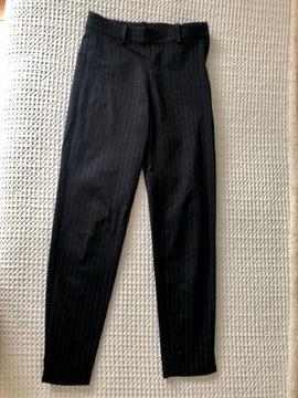 Spodnie chinosy paski H&M granatowe xs 34