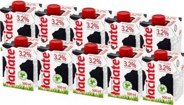 Набор из 10 пасты для ультрапастерированного молока 3,2% 0,5л