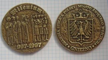 Медальон тысячелетия св. Войцех Гнезно