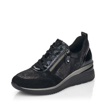 RIEKER - REMONTE Sneakersy czarne D2401
