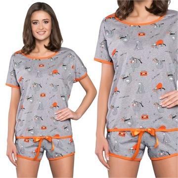 Italian Fashion Orso piżama kr/kr melanż M