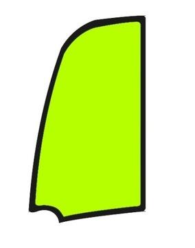 верхнее стекло двери JCB 8014, 8016, 8018, 8020