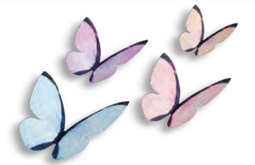 Вафельные бабочки 3D цвет ПАСТЕЛЬНЫЕ БАБОЧКИ ТОРТ 10 ШТ.