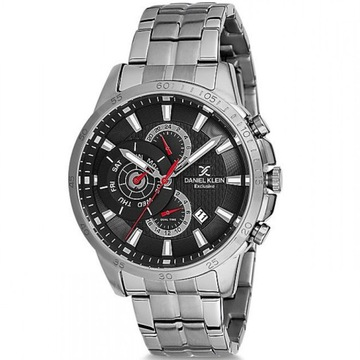 Zegarek męski Daniel Klein 12126 - srebrny czt BOX