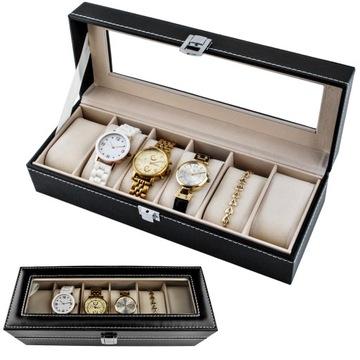 Organizer Pudełko Etui Na Zegarki Na 6 Zegarków