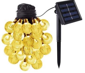 GIRLANDA SOLAR GARDEN LAMPS 40 LED WARM