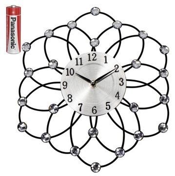 Настенные часы CRYSTALS Цветущий цветок на стене
