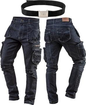 Рабочие брюки NEO ДЖИНСЫ размер XL / 54 + ремень