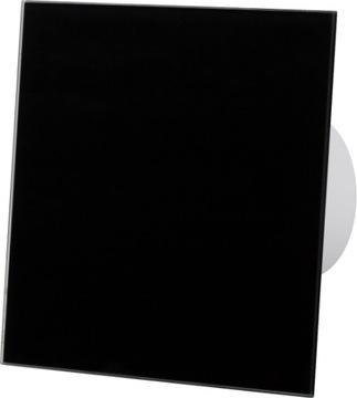 HYGROSTAT 100 вентилятор для ванной из черного стекла