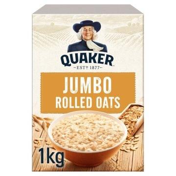 Овсяные хлопья Quaker Jumbo 1 кг Великобритания