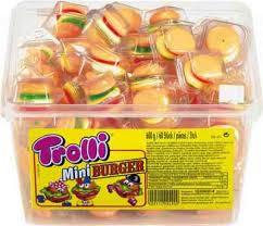 Тролли Минибургер MINI Gummies 60шт из Германии