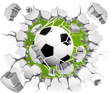 Наклейки на стену 3D Football BALLS 3D 120см