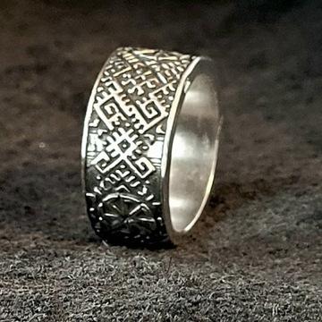 pierścień SŁOWIAŃSKI srebro925 RZEMIOSŁO nowy