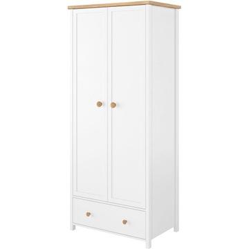 Белый шкаф 85 см с ящиком и решеткой