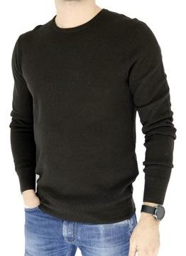 ARMANI JEANS sweter męski brązowy SWAJ05 L