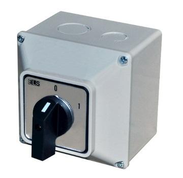 ПЕРЕКЛЮЧАТЕЛЬ 0-1 25A 3P OB IP65 Выкл.
