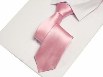 Krawat Waski Pudrowy Roz Krawaty Allegro Pl