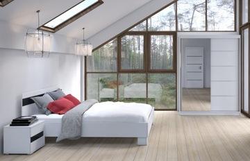 Гардероб, кровать, стол, мебель, спальня Максим 150 белый