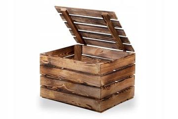 Деревянные ящики с крышкой, обстрелянный ствол