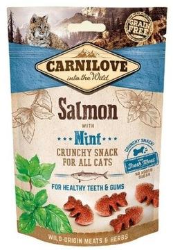 Carnilove Cat Crunchy Snack Salmon с мятой 50г