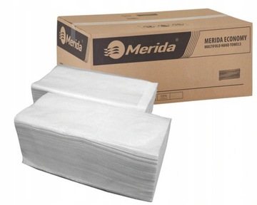 Бумажные полотенца MERIDA White в наборе 4000 шт.