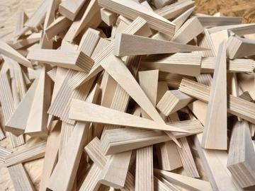 Клинья деревянные монтажные 25 шт + 1 для оконных дверей