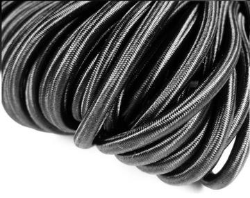Круглый эластичный плетеный 5мм гумошнурек ЧЕРНЫЙ