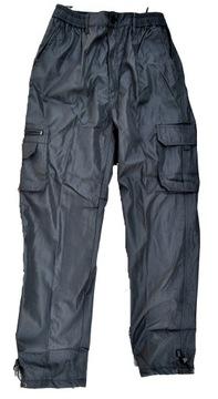 Spodnie męskie czarne. Bojówki. Ocieplane Rozm. L